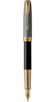 Перьевая ручка Parker SONNET 17 Black Cisele Silver GT FP F 87 311
