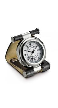 Часы Dalvey дорожные Travel SP в коже с двумя кнопками черн-крас. кварц 80х56мм