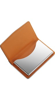 Визитница Dalvey д/своих визиток в коже черн.карбон/оранж