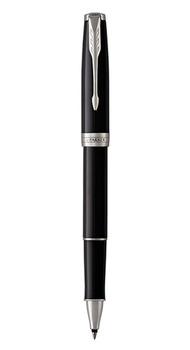 Ручка роллер Parker SONNET 17 Black Lacquer CT RB 86 122