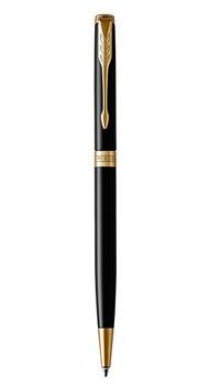 Ручка шариковая Parker SONNET17 Slim Black Lacquer GT BP 86 031