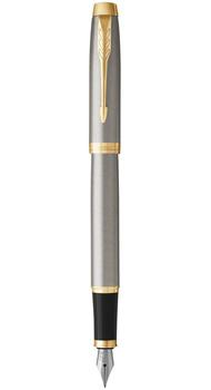 Перьевая ручка Parker IM 17 Brushed Metal GT FP F 22 211